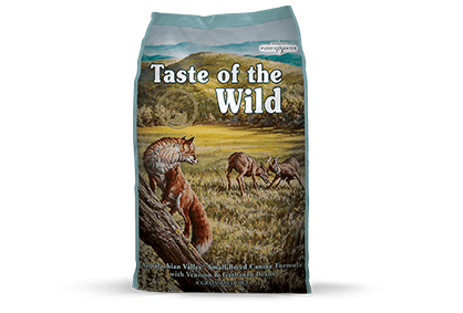 Taste of the Wild Small Breed Appalachian Valley Dry Dog Food Packaging