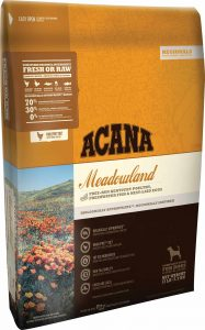 Acana Regionals Meadowland for Dogs Packaging