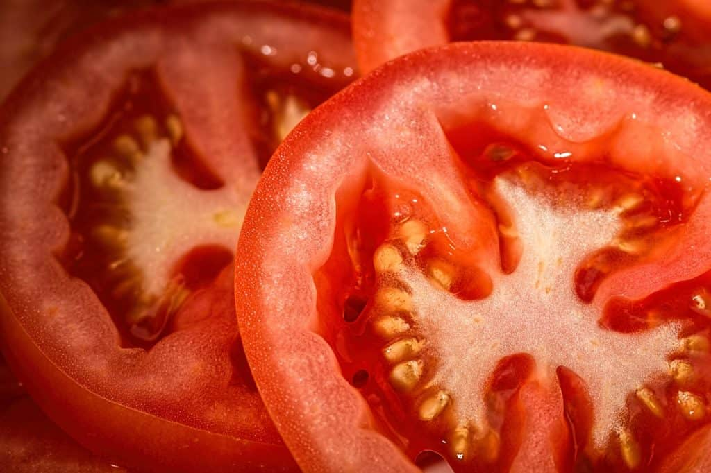 Sliced Tomato That Could Be Made Into Tomato Pomace