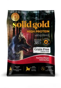 Solid Gold High Protein with Red Meat and Buffalo Packaging