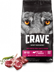 Crave With Protein From Lamb + Venison Packaging