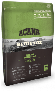 Acana Heritage Paleo Packaging