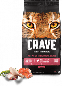 Crave Indoor With Protein From Chicken + Salmon Packaging