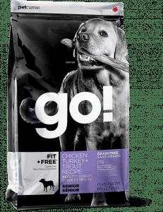 Go! Fit + Free Grain Free Senior Dog Food Recipe Packaging